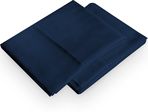 Utopia Bedding Pillowcases 2 Pack – (Queen, Navy) - Brushed Microfiber Pillow Covers - Maximum Softness - Elegant Double-Stitched Tailoring - Reduces Allergies and Respiratory Irritation