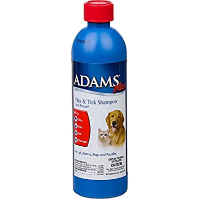 Adams Plus Flea & Tick Shampoo with Precor for Dogs and Cats by Adams