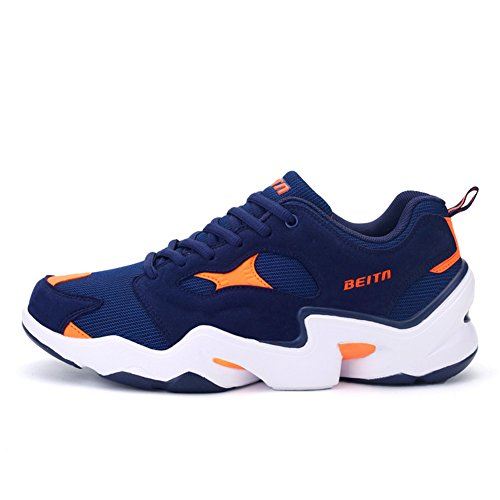 QZbeita Net Surface Breathable Sneakers Male Leisure Running Shoes Low Sandals for Man,Orange,8 D(M) US