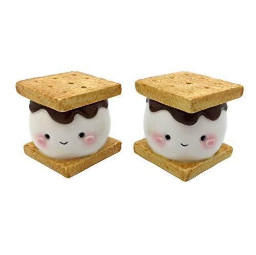 (Marshmallow Smores Salt and Pepper Shaker Set Ceramic)