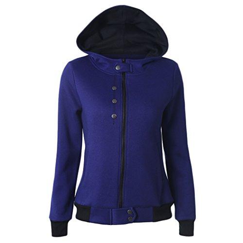 MTTROLI - Sudadera con capucha - para mujer azul marino