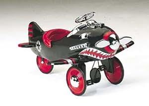PEDAL CAR RETRO Black Shark Pedal Plane FREE SHIP