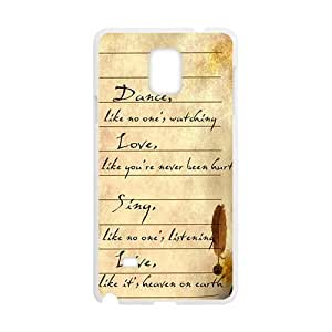 Artistic Poetry notes Cell Phone Case for Samsung Galaxy Note4
