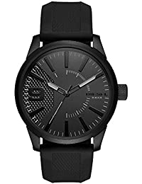Men's DZ1807 Rasp Black IP Silicone Watch