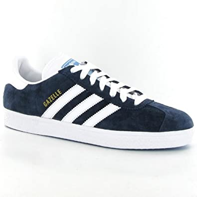 Adidas Gazelle 2 Navy Suede Mens Trainers Size 9  Amazon.co.uk ... 6228f8d21
