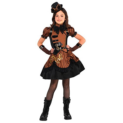 AMSCAN Steampunk Halloween Costume for Girls, Medium, with Included Accessories