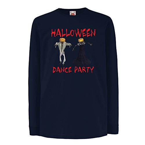 Funny t shirts for kids Long sleeve Halloween party (7-8 years Blue Multi Color) (Sexy Female Marine)