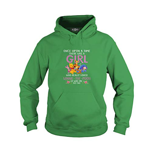 Unisex Once Upon A Time There was A Girl Who Really Loved Winnie The Pooh (L, Green)]()