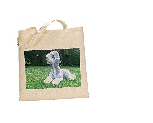 algodón terrier Bedlington de bolsa 100 FC 27 perro XwPwqS