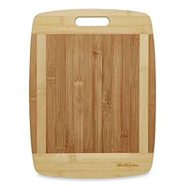 Kitchen Active 13x10-Inch Bamboo Cutting Board with One Handed Handle