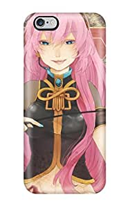Slim Fit Tpu Protector Shock Absorbent Bumper Headphones Cartoons Vocaloid Blue Blood Megurine Lukawhips Tongue Pinkmaps Anime Armbands Detached Sleeves Naillish Bangs Headsets Case For Iphone 6 Plus