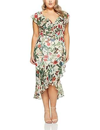 Cooper St Women's Salsa Frill Sleeve Midi Dress, Print Light, AU 18/ US 14
