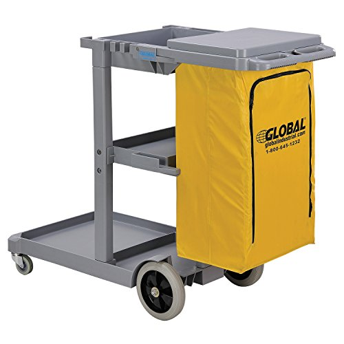 Global Janitor Cleaning Cart - Gray - Gray by Global