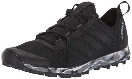 adidas outdoor Women's Terrex Speed W Running Shoe, Black/ash Grey, 8.5 M US