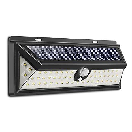 vvciic Solar Luces Sensor de movimiento, 54 luces solares del LED, IP65 Seguridad LED