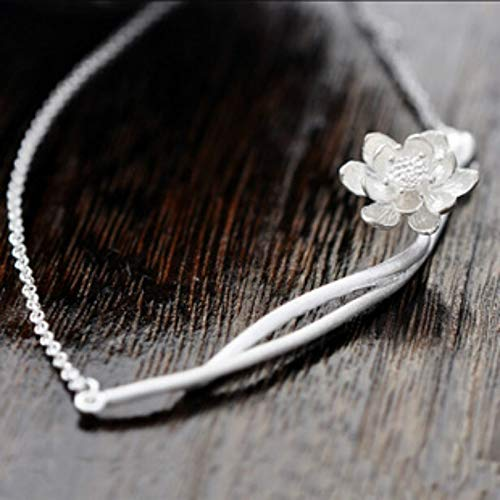 Gimax 925 Sterling Silver Necklace Wholesale Thailand Process Lotus Fashion Jewelry Ornaments