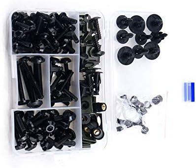 BLACK Windscreen screws 8pcs bolts For Kawasaki Ninja 250R 300R 08-10 11 12 13
