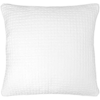 Ultrasoft Euro Square Decorative Sham Pillow White : Amazon.com: Ruched Euro Sham White: Home & Kitchen