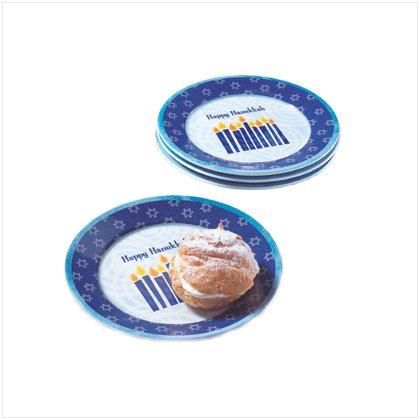 Hanukkah Dessert Plates Set Of Four Kitchen Party Decor ()
