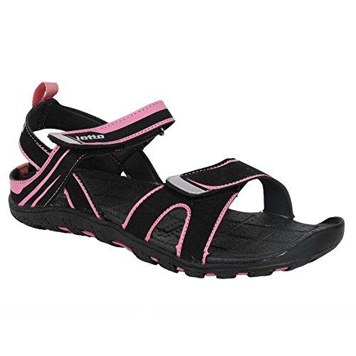 0cbb0c8809b4 Lotto Women s Reva W Black Pink Fashion Sandals-6(8907181454917 ...