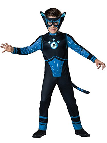 InCharacter Costumes Panther Costume, Blue, Size 4 (Wild Kratts Creature Power Suit Costumes)