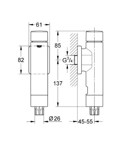 Erstaunlich GROHE Druckspüler Rondo A.S. für WC 37347000: Amazon.de: Baumarkt IU76