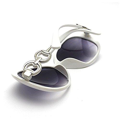 para de Gris de 100 Con polarizadas 10pcs mujer sol Aikesi UV400 sol Fashion Gafas Protección Gafas New Blanco n5qxa8XU