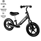 Plohee Baby Sport Balance Bike, 12″ Wheels Bicycle, Age 18 Months to 5 Years Old Children Walker No Foot Pedal Toddler Rides