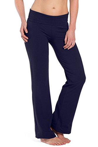 's Ecofabric Fold Over Yoga Pant (Navy, M) ()