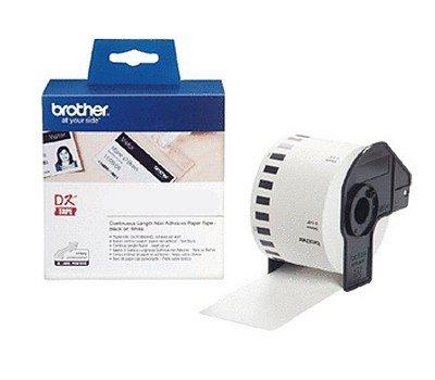 Endlosrolle 54mm P-Touch QL 500 Brother Etiketten 54 mm x 30, 48 meter, Nicht klebend, 1 Endlosetikett, DK Label fü r Ptouch QL500, QL 500A, 500BW Faxland