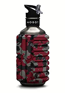 Mobot - Metal Red - 40 oz - Foam Roller Water Bottle - The Travel Mobility Bottle