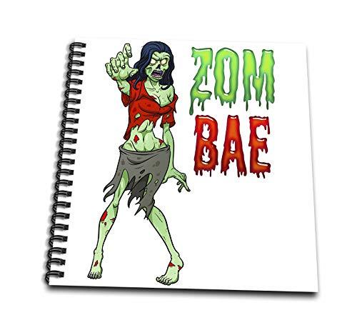 3dRose Carsten Reisinger - Illustrations - Zombae Funny Halloween Zombie Woman - Memory Book 12 x 12 inch (db_294850_2)