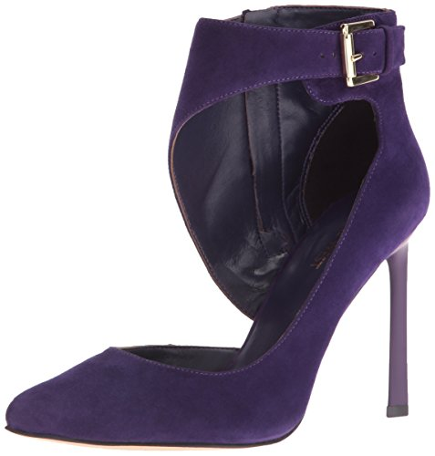 Nine West Women's Kresten Suede Dress Pump, Dark Purple, 8 M - Pump Women Purple