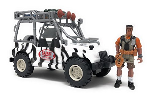 (4E's Novelty Safari Expedition Large Monster Truck for Kids, with Driver, Great for Kids Playset)