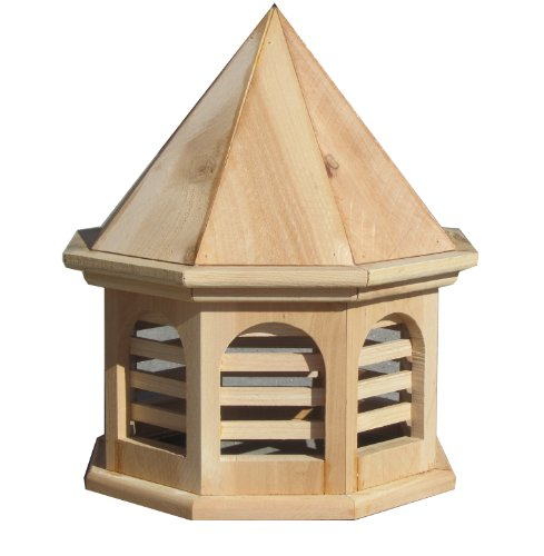 Cedar English Garden - SamsGazebos English Cottage Garden Octagon Cupola, 15