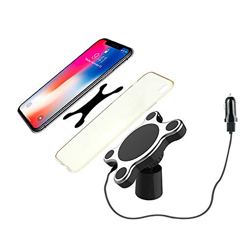 7.5W fast Charging for iPhone MAX//XS//XR//X//8//8+ Fast Wireless Car Charger 360 Rotation QI Standard Magnetic Wireless Dashboard Or Air Vent Mount Charger 10W fast Charging for Samsung Galaxy S9//S9+//S Buy4LifeShop 4348723210