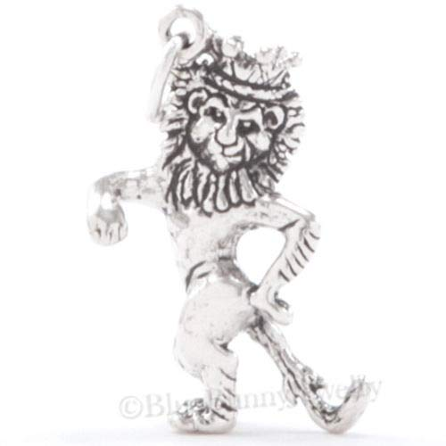 OutletBestSelling Beads Bracelet 3D Cowardly Lion w Crown Pendant Wizard of OZ Charm Sterling Silver