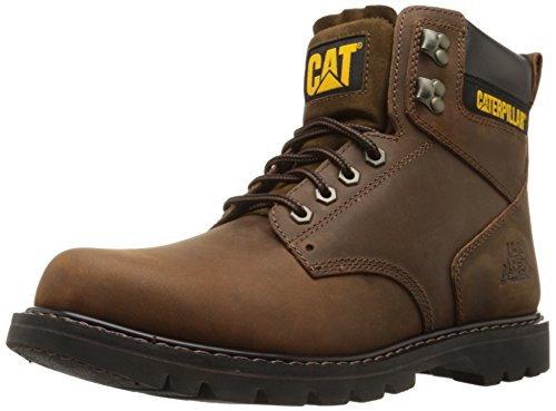 Caterpillar Men's Second Shift Work Boot,Dark Brown,10 M - Caterpillar Brown