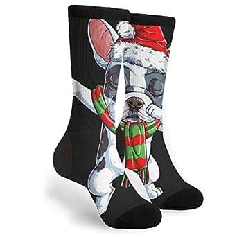 Dabbing French Bulldog Santa Christmas High Graduated