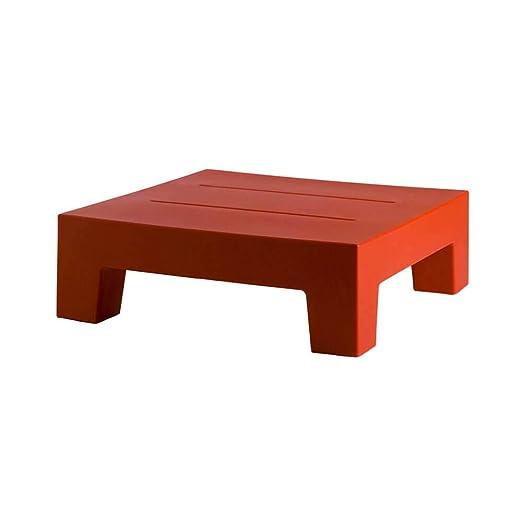 Vondom Jut mesa baja de exterior rojo para tumbona: Amazon.es: Jardín