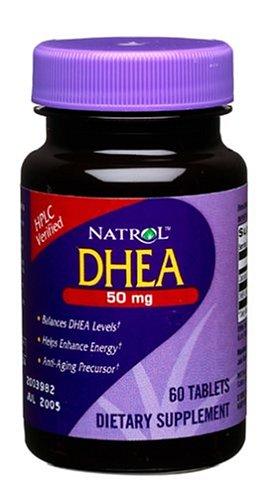 Natrol DHEA 50 mg, 60 comprimés (Pack de 3)