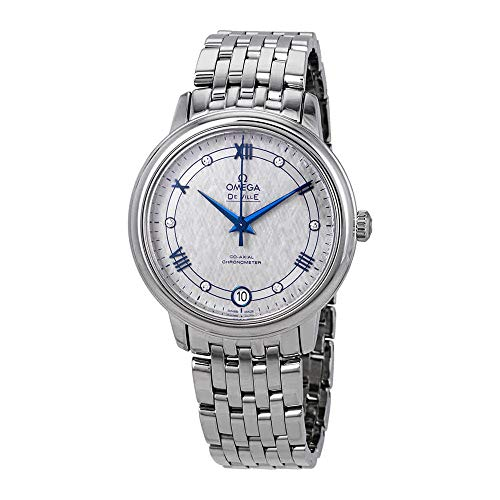 Womens Watch 20 Diamonds (Omega De Ville Prestige Co-Axial Automatic Diamond Grey Dial Ladies Watch 424.10.33.20.56.002)