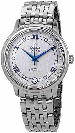Omega De Ville Prestige Co-Axial Automatic Diamond Grey Dial Ladies Watch 424.10.33.20.56.002