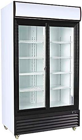 Nevera industrial expositora dos puertas de cristal - Maquinaria Bar Hostelería: Amazon.es: Hogar