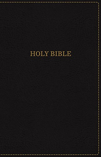 KJV, Thinline Bible, Large Print, Leathersoft, Black, Red Letter Edition, Comfort Print