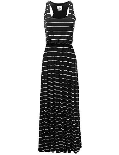 long black racerback dress - 7