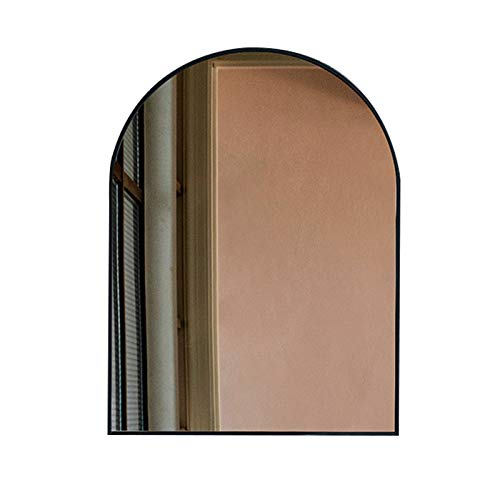 Bathroom Mirror Nordic Modern Design Wall Mirror Vanity Mirror, Iron Arched Gold -