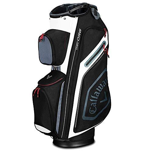 Callaway Golf 2019 Chev Org Cart Bag, Black/Titanium/White