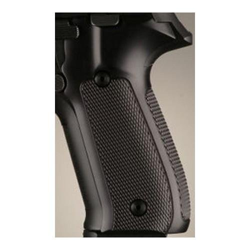 Hogue Sig P228/P229 Grips (Checkered Aluminum), Brushed Gloss Black Anodized