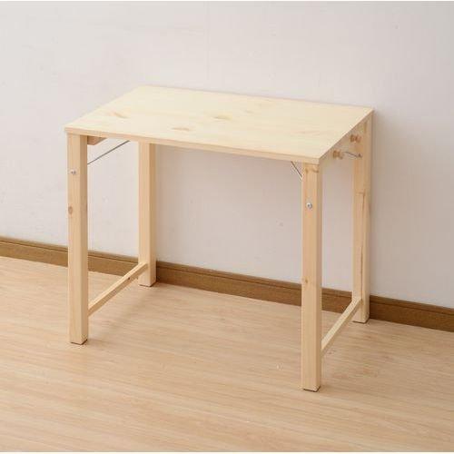 山善(YAMAZEN) 折りたたみテーブル 天然木 完成品 幅78×奥行50cm サイドフック2個付き MJT-7850HF(NA) B01FJXAD90